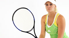 Female Tennis Player Slow Motion Stock Footage
