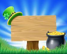 Saint Patricks Day Leprechaun Sign Stock Illustration