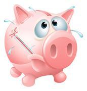 Unhealthy finances concept - stock illustration