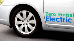 Electric Vehicle Stock Footage