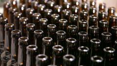 1289 - CU full frame bottles in brewery Stock Footage