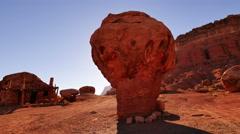 4K Vermilion Cliffs 05 Rock Houses Native American Ruins Arizona USA 4K - stock footage