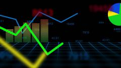 Financial Index Swing Charts - transparent Stock Footage