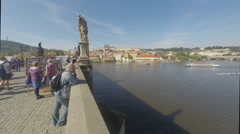 Charles Bridge in Prague Stock Footage