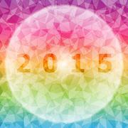 design magic global with 2015 background - stock illustration