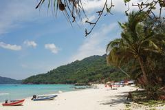 pasir panjang (long beach), perhentian islands, malaysia, southeast asia, asi - stock photo