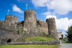 Conwy castle, unesco world heritage site, wales, united kingdom, europe Stock Photos