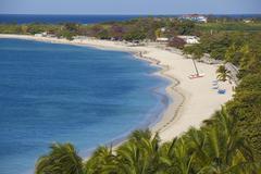ancon beach, trinidad, sancti spiritus province, cuba, west indies, caribbean - stock photo