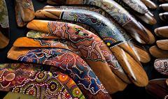 boomerangs, victoria station market, victoria, australia, pacific - stock photo