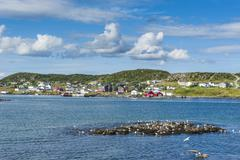 marguerite bay in st. anthony, newfoundland, canada, north america - stock photo