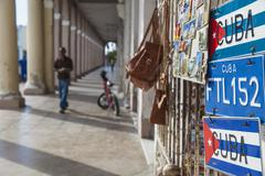 Columns on shops opposite parque marta, cienfuegos, cienfuegos province, cuba Kuvituskuvat