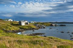 little bay on the north cape of newfoundland, canada, north america - stock photo