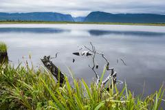 jerrys pond in the gros morne national park, unesco world heritage site, newf - stock photo