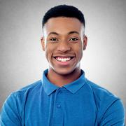 Cheerful young african model - stock photo