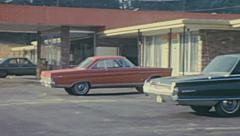 USA 1969: outside a motel Stock Footage