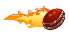 Flaming cricket ball Stock Illustration