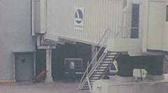USA 1969: view from the airplane window just before disembarking Stock Footage