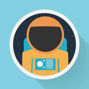 Astronaut portrait Stock Illustration