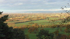 Beautiful autumn panorama, north west England, Pennines Stock Footage