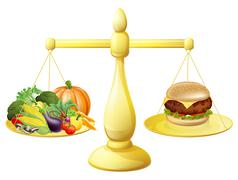 Stock Illustration of Healthy eating diet decision