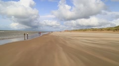 Dunes in De Haan, Belgium, clip6 - stock footage
