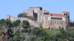 Castelo de Leiria, Portugal Stock Footage