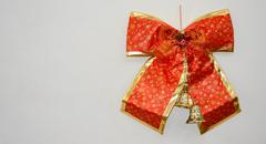 Christmas bow with blank space Stock Photos