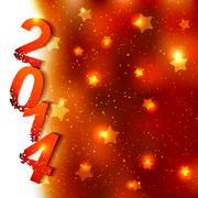 Sparkling New Year Background Stock Illustration