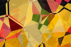 Abstract multicolored curves figures Stock Illustration