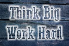 think big work hard concept - stock illustration