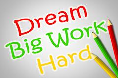 Stock Illustration of dream big work hard concept