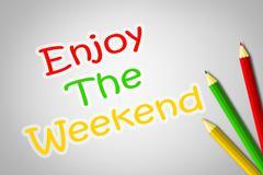enjoy the weekend concept - stock illustration