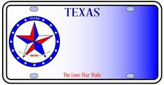 Texas auto license plate Piirros