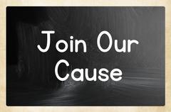 Join our cause concept Stock Photos