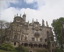 QUINTA DA REGALEIRA, PORTUGAL -  facade country estate Stock Footage