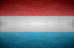 closeup screen luxembourg flag concept - stock photo