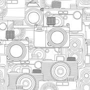 Seamless photography pattern Stock Illustration
