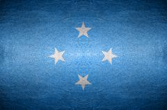 Closeup screen micronesia flag concept Stock Photos
