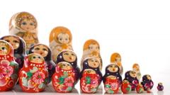 Russian souvenir Matryoshka Stock Footage