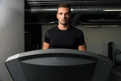 Running On Treadmill Stock Photos