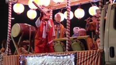 Tokyo Festival taiko matsuri yagura bon-odori - stock footage