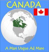 Canada location emblem motto - stock illustration