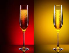 luxury glass of champagne - stock photo