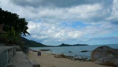 Lamai beach, samui, thailand, time lapse Stock Footage