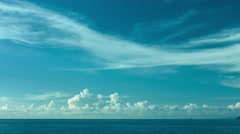 The sky over the ocean. daytime timelapse Stock Footage