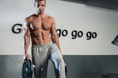 Abs Workout - stock photo
