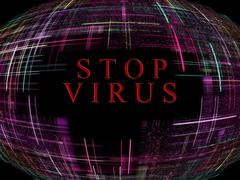 virus epidemic concept.digitally generated image. - stock illustration
