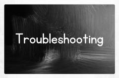 troubleshooting concept - stock photo