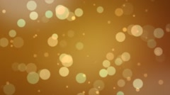 Bookeh Loop Gold Glitter Stock Footage