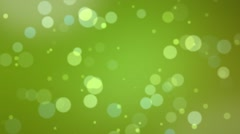 Bookeh Loop Green Stock Footage